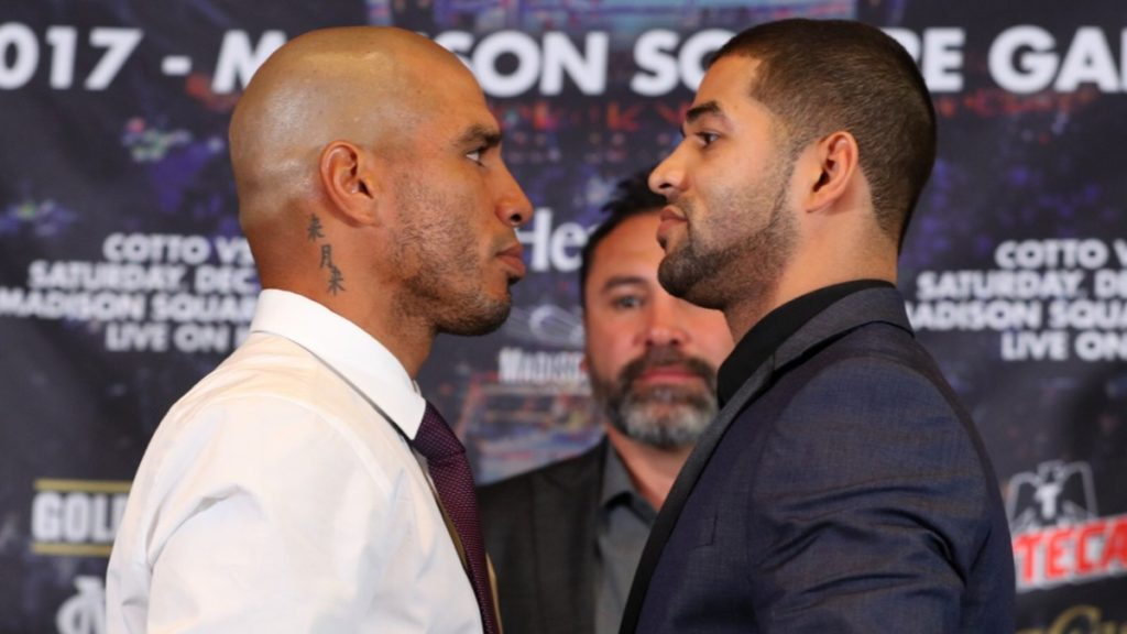 Cotto face off against Ali