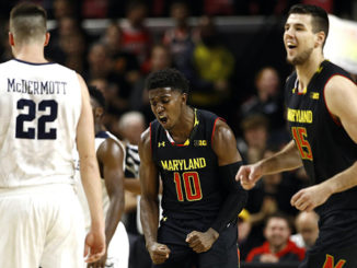 Morsell celebrating for Maryland