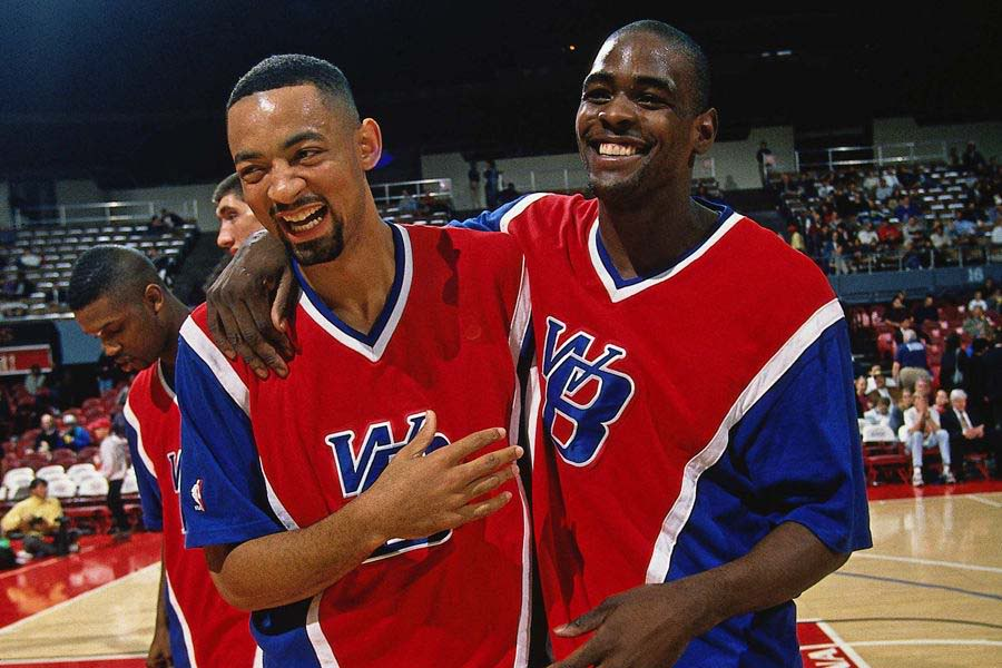 Juwan Howard and Chris Webber