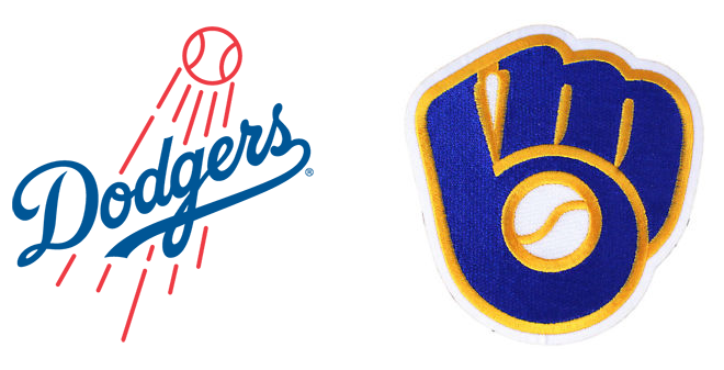 Dodgers and Brewers logo