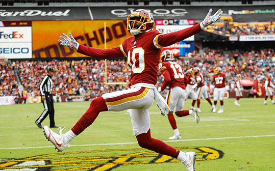 Redskins receiver Paul Richardson missed practice on Thursday as he sought more doctors' opinions on his injured shoulder. (Patrick Semansky/AP)
