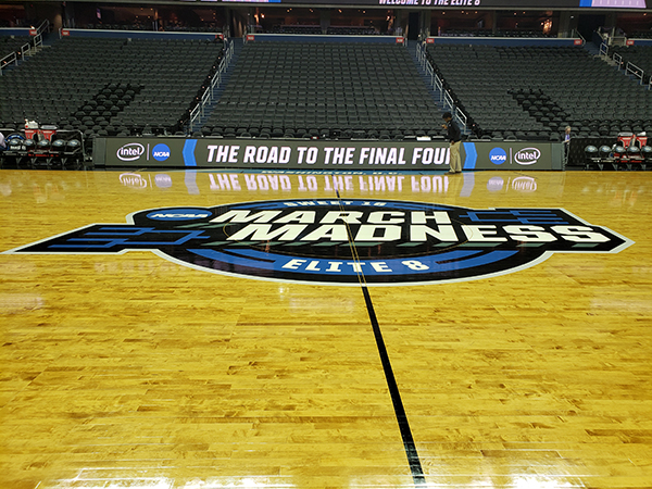 NCAA Tournament Basketball Court