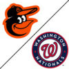 Orioles and Nats logos